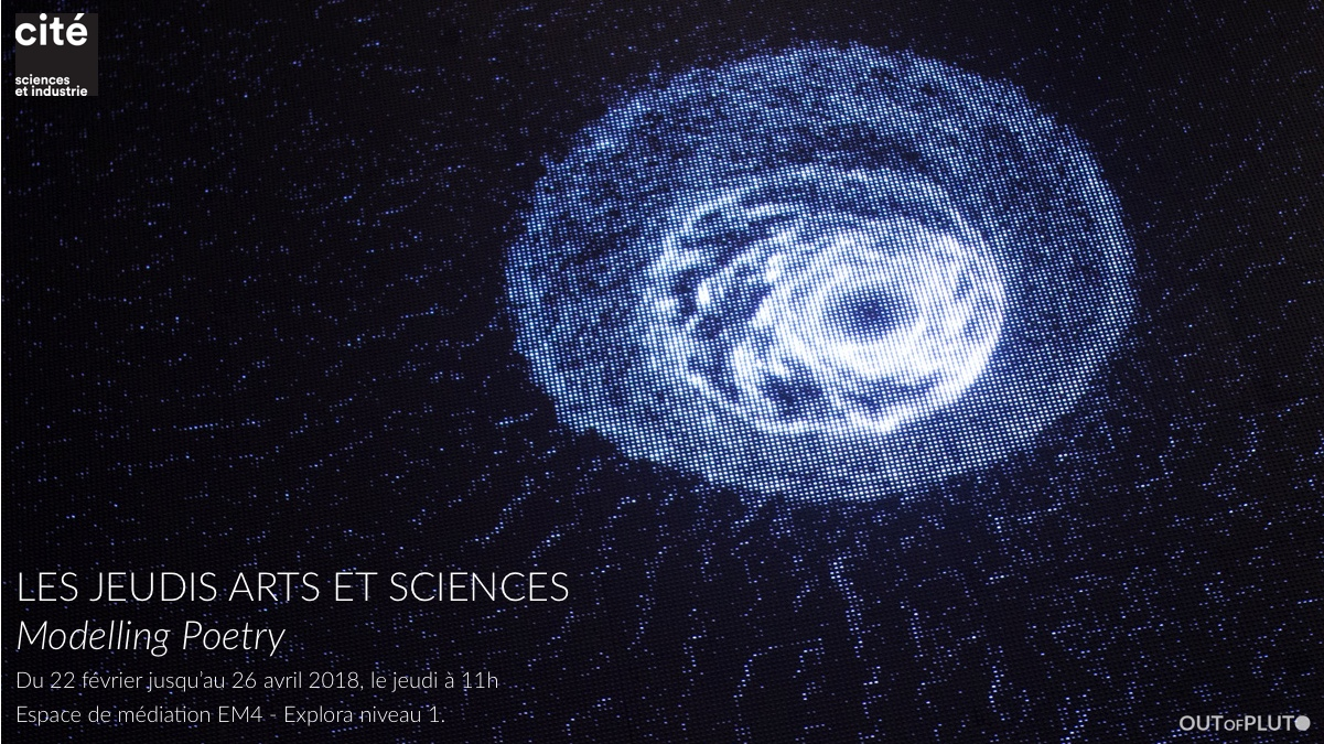Les Jeudis Arts et Sciences - Modelling Poetry - Out of Pluto - Page de garde