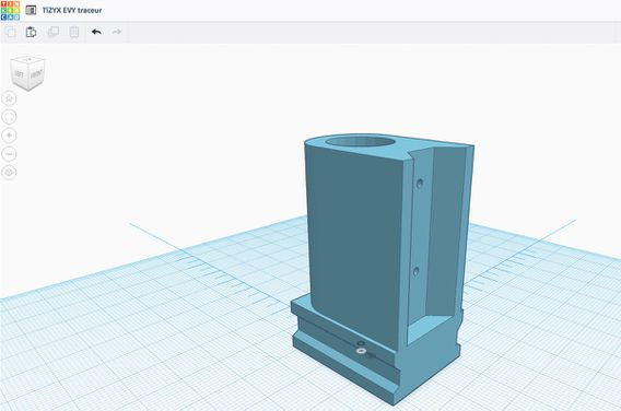 3D model for the plotter using Tinkercad